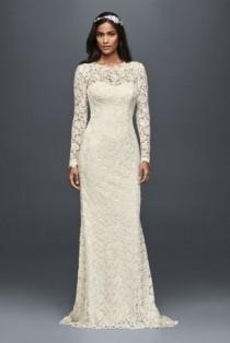 wedding photo - Long Sleeve Petite Wedding Dress With Open Back Style 7MS251176