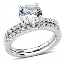 wedding photo - A Perfect 2CT Round Cut Russian Lab Diamond Solitaire Engagement Wedding Band Bridal Set Ring