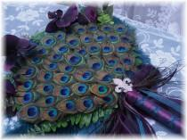 wedding photo - Exquisite Crystal Peacock Fan Bouquet in your choice of sizes