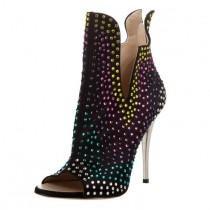 wedding photo - Open Toe Stiletto Heel Women's Boots