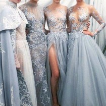 wedding photo - Ice Blue Dresses