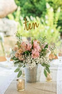 wedding photo - Rustic Table Number