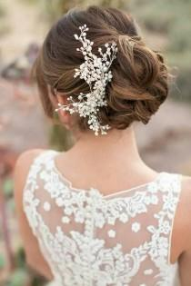 wedding photo - 20 Killer Swept-Back Wedding Hairstyles