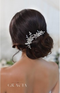 wedding photo - CHARA Flower Crystal Bridal Hair Pins