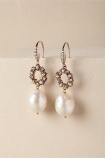 wedding photo - BHLDN's Theia Jewelry Sadie Drop Earrings In Gold