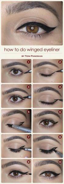 wedding photo - How To Do Winged Eyeliner