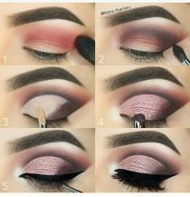 wedding photo - Pink Cut Crease Tutorial