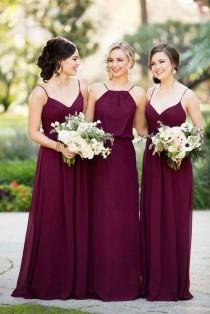 wedding photo - Burgundy Bridesmaid Dresses