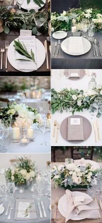 wedding photo - 12 Super Elegant Wedding Table Setting Ideas
