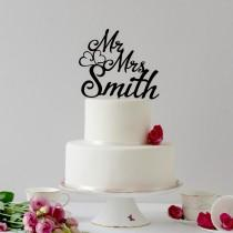 wedding photo - Surname Cake Topper, Modern Wedding Cake Topper , Custom Cake Topper, Personalized Topper, Mr and Mrs Wedding Cake Topper, Last name Topper