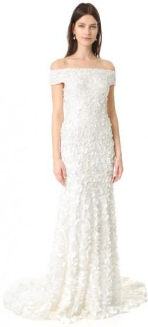 wedding photo - Theia Marina Off the Shoulder Petal Gown