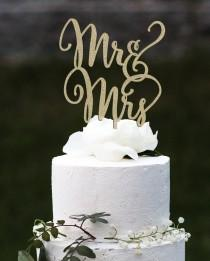 wedding photo - Mr and Mrs Cake Topper, Wedding Cake Topper, Engagement Cake Topper, Bridal Shower Cake Topper, Anniversary Cake Topper, Glitter Cake Topper