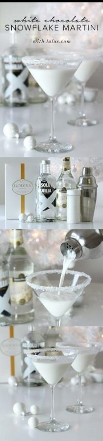 wedding photo - White Chocolate Snowflake Martini