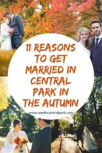 wedding photo - Eleven Reasons To Get Married In Autumn (or Fall!) In Central Park