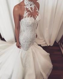 wedding photo - Get A Beaded Halter Wedding Gown From Darius Bridal