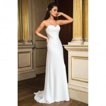 wedding photo - Style E16608 by Special Day European Collection - Ivory  White Chiffon Floor Sweetheart  Strapless Column Wedding Dresses - Bridesmaid Dress Online Shop