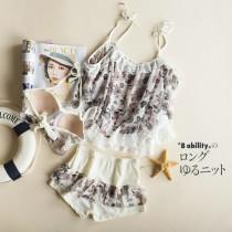 wedding photo - Plus Size Lace Floral Deer Swimsuit Bikini - Discount Fashion in beenono