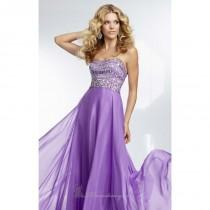 wedding photo - Strapless Chiffon Gown by Paparazzi by Mori Lee 95005 - Bonny Evening Dresses Online