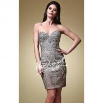 wedding photo - Embellished Strapless Lace Dress by Mac Duggal Couture 82218D - Bonny Evening Dresses Online