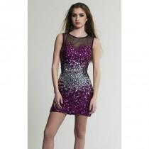 wedding photo - Embellished Scoop Neckline Dress by Dave and Johnny 225 - Bonny Evening Dresses Online