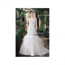 wedding photo - Vestido de novia de Maggie Sottero Modelo Kennedy - 2016 Sirena Palabra de honor Vestido - Tienda nupcial con estilo del cordón