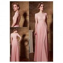 wedding photo - In Stock Alluring Composite Filament & Malay Bateau Neckline A-Line Prom Dresses - overpinks.com
