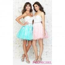 wedding photo - Short Strapless Babydoll Dress by Madison James - Brand Prom Dresses