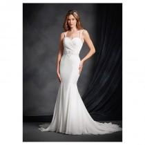 wedding photo - Exquisite Chiffon Sweetheart Neckline Mermaid Wedding Dresses with Beaded Lace Appliques - overpinks.com