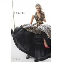 wedding photo - Leopard Sherri Hill 32198 - Open Back Dress - Customize Your Prom Dress