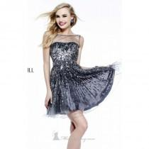 wedding photo - Sequined Sheer Dress by Sherri Hill 8525 - Bonny Evening Dresses Online