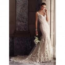 wedding photo - David Tutera for Mon Cheri Spring/Summer 2017 117268 Blush Chapel Train Elegant Sleeveless Mermaid Lace Appliques Bridal Gown - Fantastic Wedding Dresses