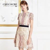 wedding photo - Slimming A-line Scoop Neck High Waisted Voile Lace It Girl Dress - Bonny YZOZO Boutique Store