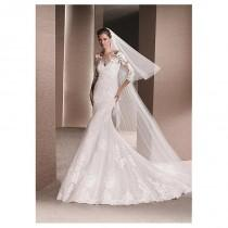 wedding photo - Elegant Tulle & Lace Bateau Neckline Mermaid Wedding Dresses With Lace Appliques - overpinks.com