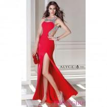 wedding photo - Long Open Back Formal Dress by Alyce - Brand Prom Dresses