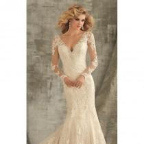 wedding photo - Crystal Embellished Long Sleeved Gown by Angelina Faccenda by Mori Lee - Color Your Classy Wardrobe
