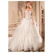 wedding photo - Elegant Tulle & Organza Sweetheart Neckline Natural Waistline Ball Gown Wedding Dress With Beadings & Rhinestons - overpinks.com