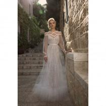 wedding photo - Dany Mizrachi Spring/Summer 2018 DM34/18 S/S Sweep Train Sweet Ivory Long Sleeves Illusion Aline Beading Tulle Wedding Dress - Fantastic Wedding Dresses