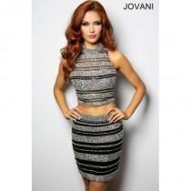 wedding photo - Jovani 26699 Two-Piece Crop Top Short Dress - 2018 New Wedding Dresses