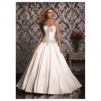 wedding photo - Delicate Satin Sweetheart Neckline Ball Gown Wedding Dress With Beaded Embroideries - overpinks.com