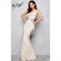 wedding photo - Ivory/Nude Mac Duggal 50404D - Customize Your Prom Dress