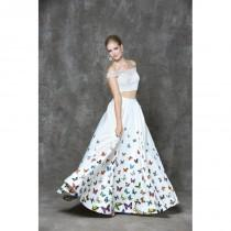 wedding photo - Glow by Colors - G731 Two-Piece Butterfly Print Evening Dress - Designer Party Dress & Formal Gown