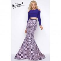 wedding photo - Indigo Blush Cassandra Stone 65906A - 2-piece Mermaid Sleeves Long Dress - Customize Your Prom Dress