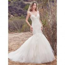 wedding photo - Maggie Sottero Fall/Winter 2017 Alta Embroidery Tulle Sleeveless Chapel Train Mermaid Sweet Ivory Bridal Gown - Rolierosie One Wedding Store