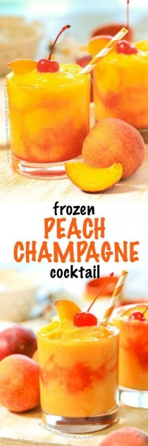 wedding photo - Frozen Peach Champagne Cocktail