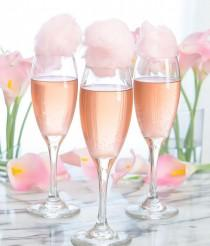 wedding photo - Cotton Candy Champagne Cocktails