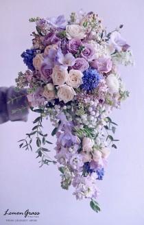 wedding photo - Wedding Purples, Lavender, Pink Bouquets