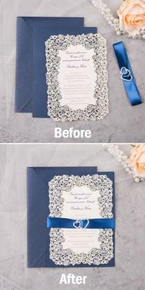 wedding photo - Useful DIY Ideas For Crafty Brides: Adding Shimmer To Your Invitations