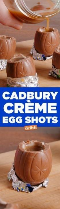 wedding photo - Cadbury Creme Egg Shots