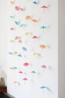 wedding photo - DIY Decor: How To Make A Paper Umbrella Garland