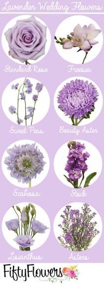 wedding photo - 70  Beautiful Purple Flowers (Care & Growing Tips)